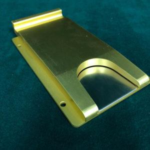 Slimline-Anodized Brass