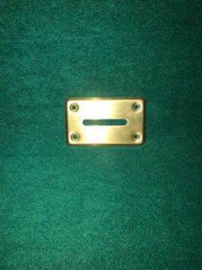 Toke Slot Cover-Anodized Brass