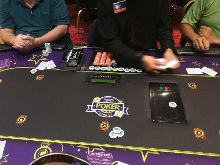 poker table full with hot spot
